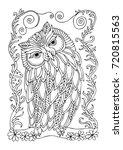 Hand Drawn Owl. Sketch For Anti ...