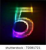 Raster Number Halftone Light 5