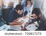 teamwork working process.group... | Shutterstock . vector #720817273