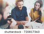 concept of teamwork process at... | Shutterstock . vector #720817363