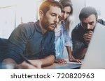 teamwork concept.young... | Shutterstock . vector #720820963