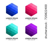 hexagon shape with modern... | Shutterstock .eps vector #720822400