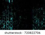 color grunge turquoise... | Shutterstock . vector #720822706