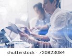 concept of digital diagram...   Shutterstock . vector #720823084