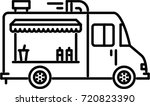 food truck outline icon  | Shutterstock .eps vector #720823390