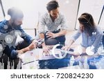 new business project startup... | Shutterstock . vector #720824230