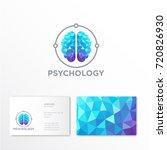 psychology logo. crystal brain...   Shutterstock .eps vector #720826930