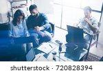 teamwork process.young... | Shutterstock . vector #720828394