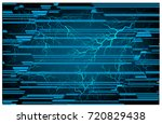 binary circuit future... | Shutterstock .eps vector #720829438