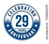 29 years anniversary logo.... | Shutterstock .eps vector #720833329
