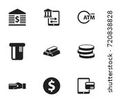 set of 9 editable finance icons....
