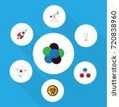 flat icon study set of orbit ... | Shutterstock .eps vector #720838960