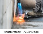 installation by heating and... | Shutterstock . vector #720840538
