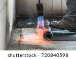 installation by heating and... | Shutterstock . vector #720840598