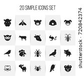 set of 20 editable zoo icons....