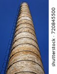 old architecture chimney | Shutterstock . vector #720845500
