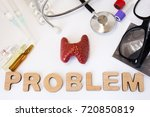 thyroid problems concept photo. ... | Shutterstock . vector #720850819