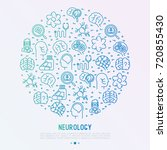 neurology concept in circle... | Shutterstock .eps vector #720855430