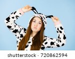 people dressed up like animals... | Shutterstock . vector #720862594