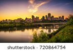 sunset above edmonton downtown  ... | Shutterstock . vector #720864754