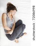young girl in pain | Shutterstock . vector #72086998