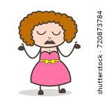 cartoon young woman unknown... | Shutterstock .eps vector #720873784