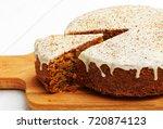 closeup homemade sweet carrot... | Shutterstock . vector #720874123