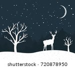 winter card with standing... | Shutterstock .eps vector #720878950