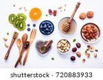 ingredients for a healthy foods ... | Shutterstock . vector #720883933