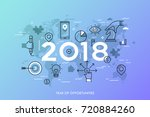 infographic concept  2018  ... | Shutterstock .eps vector #720884260