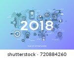 infographic concept  2018  ... | Shutterstock .eps vector #720884260