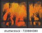 Digital Painting Many Hand...