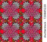 vector seamless pattern with... | Shutterstock .eps vector #720885220