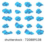 clouds icon cloudy sky clouds... | Shutterstock .eps vector #720889138