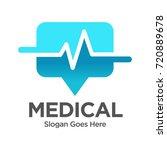 stethoscope location medical...   Shutterstock .eps vector #720889678
