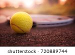 tennis game. tennis ball with... | Shutterstock . vector #720889744