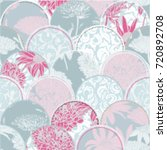 seamless tile floral pattern ... | Shutterstock .eps vector #720892708