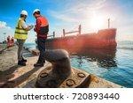 the agent supervisor... | Shutterstock . vector #720893440