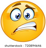 oops emoticon | Shutterstock .eps vector #720894646