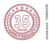 35 years anniversary logo... | Shutterstock .eps vector #720896398