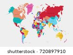 color world map vector | Shutterstock .eps vector #720897910