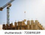 building under construction... | Shutterstock . vector #720898189