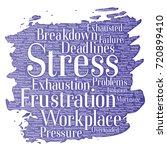 vector conceptual mental stress ... | Shutterstock .eps vector #720899410