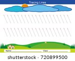follow the lines with your... | Shutterstock .eps vector #720899500