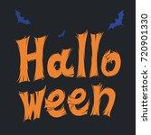 happy halloween handwritten... | Shutterstock .eps vector #720901330