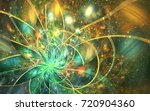 abstract fractal patterns and... | Shutterstock . vector #720904360