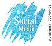 conceptual social media... | Shutterstock . vector #720904426
