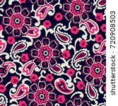 seamless pattern with fantasy...   Shutterstock .eps vector #720908503