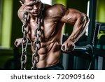 brutal handsome caucasian... | Shutterstock . vector #720909160