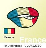 vector illustration of lip... | Shutterstock .eps vector #720912190